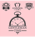 vintage style pocket watch gentleman vector image vector image