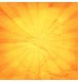 vintage sunburst orange paper vector image