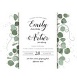 wedding floral hand drawn invite invitation card vector image vector image