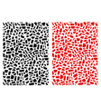 set of seamless granite mosaic pattern in vector image