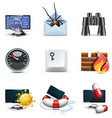 computer security icons vector image