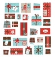advent calendarCollection of colorful vector image vector image