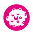 bacterial cell structure icon vector image vector image