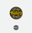 bakery logo lettering circle badge vintage signboa vector image vector image