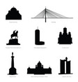 belgrade most famous buildings and statue vector image vector image