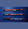 breaking news banner vector image