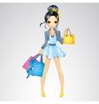 Brunette Girl Do Shopping vector image