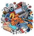 cartoon doodles work from home vector image