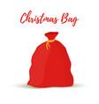 cartoon gift sack bag of santa claus vector image vector image