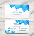 clean white and blue business card template design vector image vector image