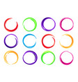 color circles colorful round logo frame circle vector image