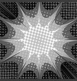 comic explosion monochrome concept vector image vector image