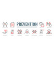 coronavirus prevention set vector image