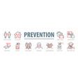 coronavirus prevention set vector image vector image