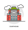court or tribunal courthouse entrance vector image