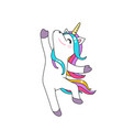cute dancing unicorn background isolated vector image