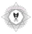 dog with bone- logo symbol protect sign icon vector image