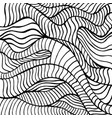 doodle waves coloring page abstract black and vector image vector image