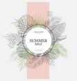 exotic leaf round banner trendy design vector image