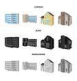 facade and housing icon vector image