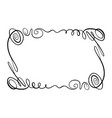 flourish frame rectangle with squiggles vector image vector image