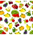 Fresh juicy bright fruits pattern vector image vector image