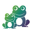 frogs cute animal sitting cartoon vector image vector image