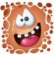 funny cute crazy pumpkin character halloween vector image vector image