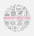 ghostwriter round in line vector image vector image