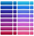 Glossy buttons in 2 states Up and Down vector image