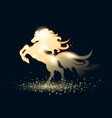 golden stallion vector image vector image