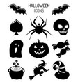 halloween icons signs of vector image vector image