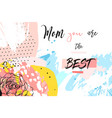 hand drawn abstract creative mothers day vector image vector image