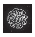 Hand-sketched typographic elements on chalkboard vector image vector image
