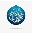Hand written inscription Merry Christmas in ball vector image