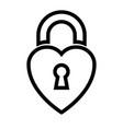 heart shaped padlock vector image vector image