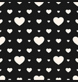 hearts pattern monochrome seamless texture vector image vector image