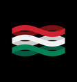hungary flag ribbon isolated hungarian symbol vector image