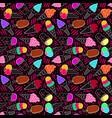 ice cream pattern 7 dark big vector image vector image