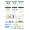 infographics flowcharts whiteboard presentation vector image vector image