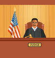 judge black man in courtroom flat vector image vector image