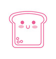 kawaii slice bread funny cartoon vector image vector image