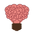 light bulb in form of brain icon vector image vector image