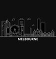 melbourne silhouette skyline australia vector image vector image