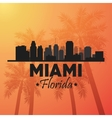 Miami florida design Palm tree and City icon vector image