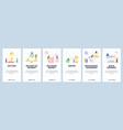 mobile app onboarding screens behavioural economy vector image
