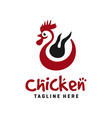 modern chicken logo design vector image