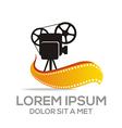 movie video cinema vector image