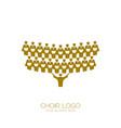 music logo singing the choir vector image