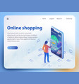 online shopping isometric vector image vector image